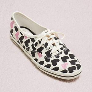 NEW Kate Spade x Keds Champion Hearts Sneaker 6
